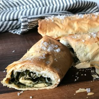 Fresh Spinach & Herb Phyllo Roll-Ups