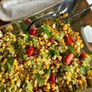 Grilled Corn Salad with Avocado Pesto