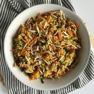 Curried Red Kuri Squash & Wild Rice Salad