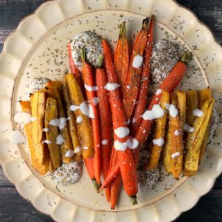 Maple Roasted Carrots with Za'atar Sprinkle