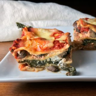 Wilted Winter Greens & Baby Bella Lasagna